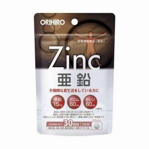 Viên uống bổ sung kẽm Orihiro ZinC Nhật Bản