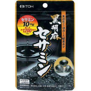 Viên uống mè đen 60 viên Itoh Black Sesame Sesamin1