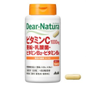 TPCN bổ sung vitamin C, kẽm, lợi khuẩn và vitamin B2, B6 Asahi Nhật Bản